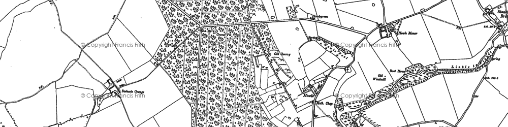 Old map of Ercall Heath in 1880
