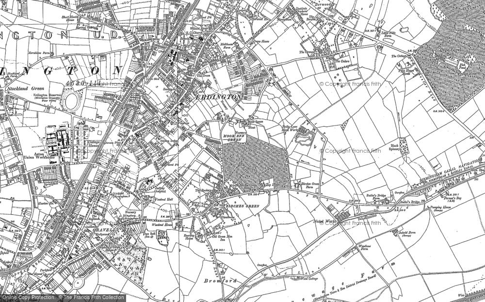 Old Maps Of Erdington Francis Frith - Old os maps