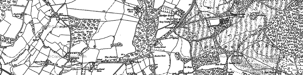 Old map of Eridge Green in 1897
