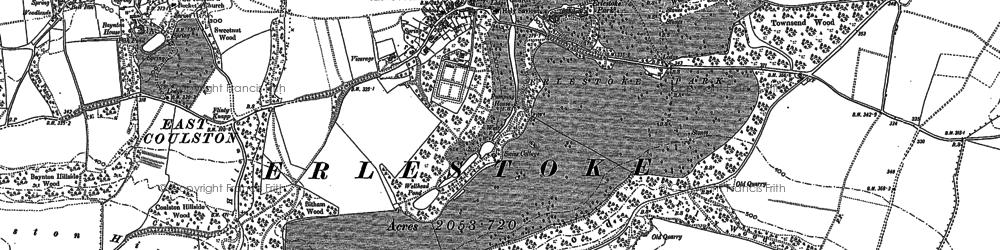 Old map of Erlestoke in 1899