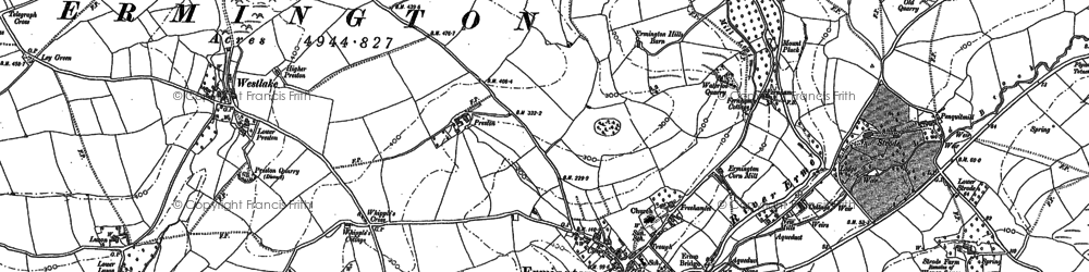 Old map of Ermington in 1886