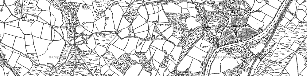 Old map of Allt y Clych in 1902