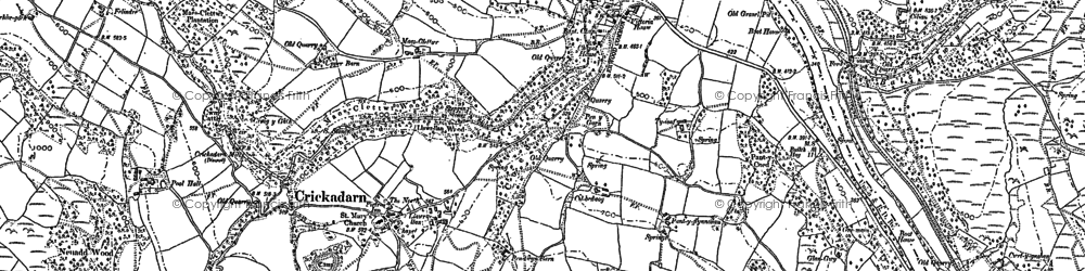 Old map of Erwood in 1902