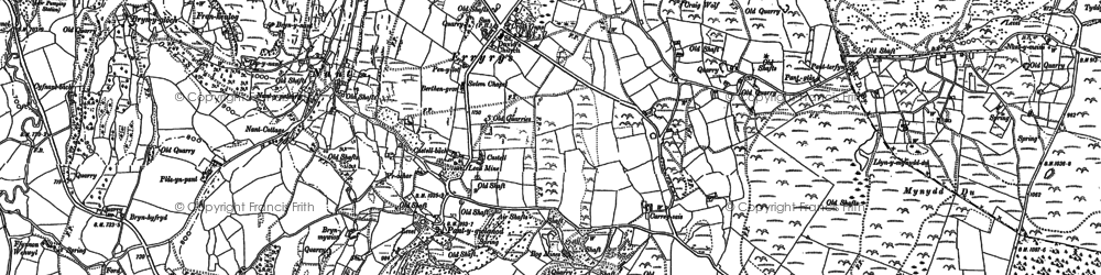 Old map of Tir-y-coed in 1910