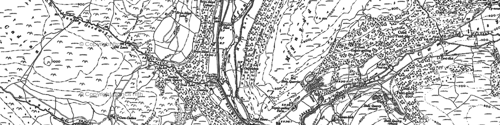 Old map of Esgairgeiliog in 1900