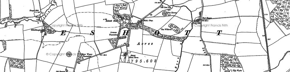 Old map of Wintrick in 1896