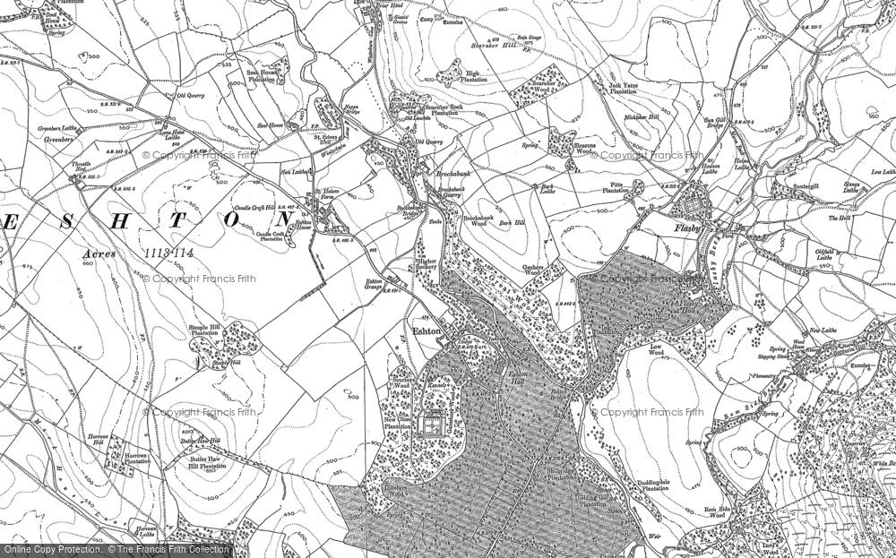 Old Map of Eshton, 1907 in 1907