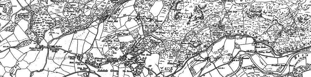 Old map of Eskdale Green in 1898