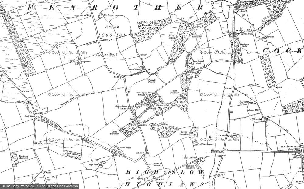 Old Map of Historic Map covering Abshields in 1896