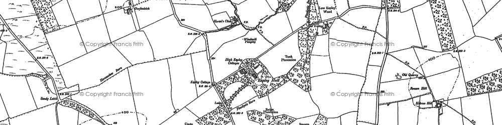 Old map of Abshields in 1896