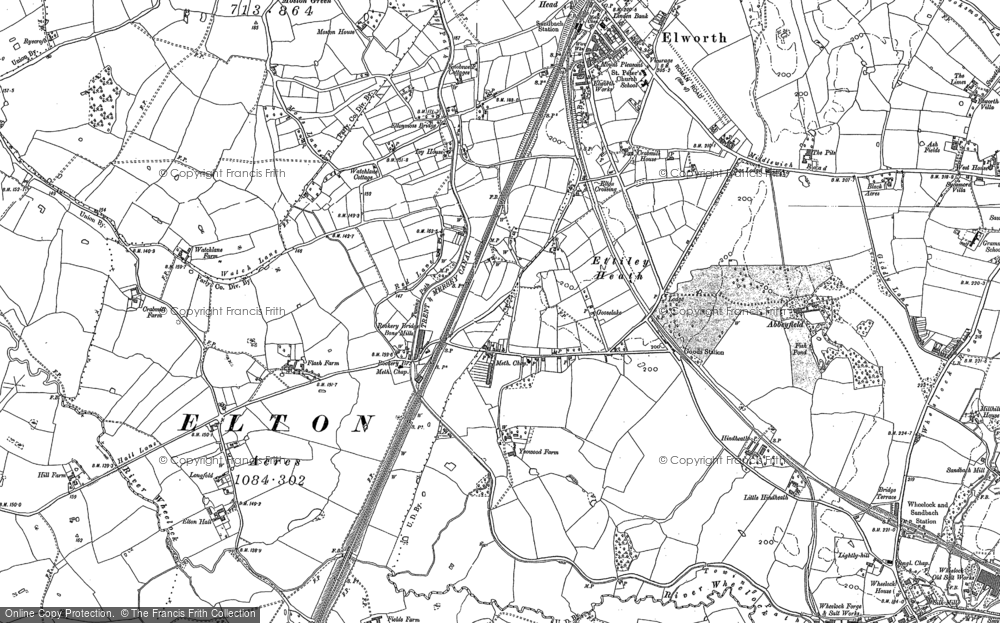 Old Map of Historic Map covering Abbeyfields in 1897