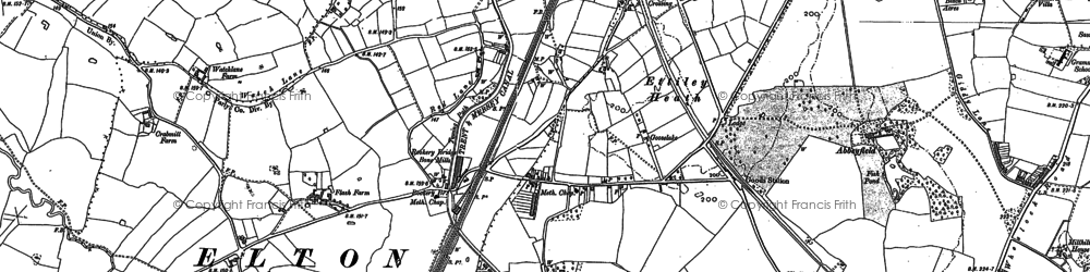Old map of Abbeyfields in 1897