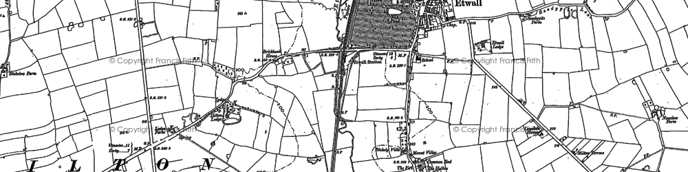Old map of Ashe Hall (Tara Buddhist Centre) in 1881