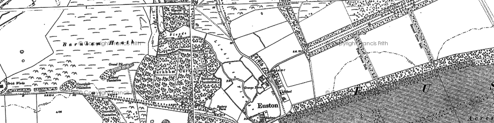 Old map of Wrottesley Wood in 1882