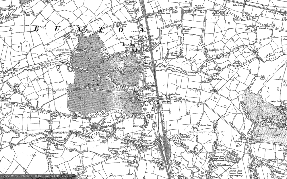 Old Map of Historic Map covering Woodcock Fold in 1893
