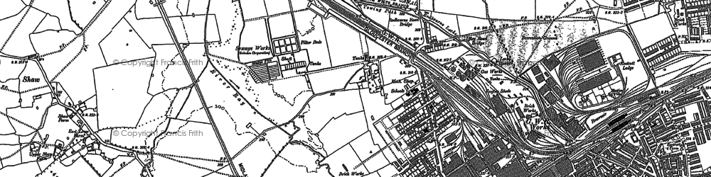 Old map of Even Swindon in 1899