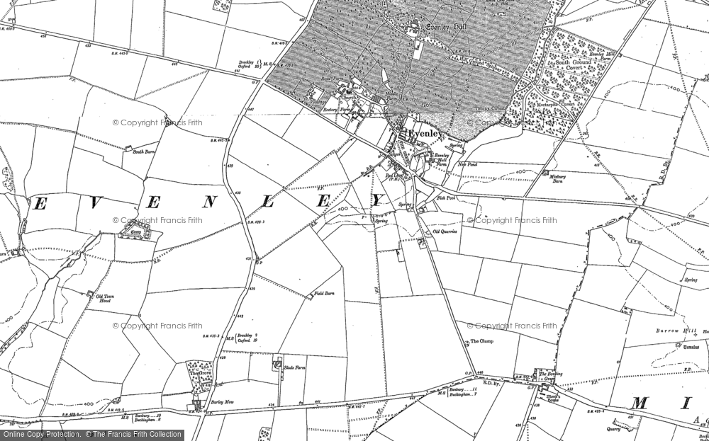Old Map of Historic Map covering Astwick Village in 1898