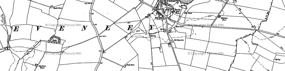 Old map of Astwick Village in 1898