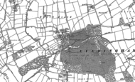 Old Map of Everingham, 1889 - 1890