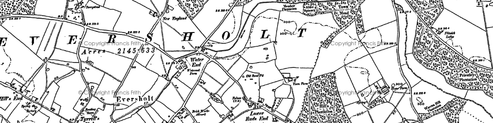 Old map of Witts End in 1881