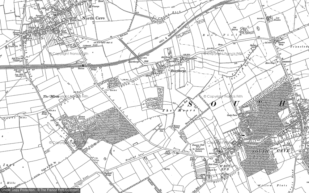 Old Map of Historic Map covering Ashfield in 1888
