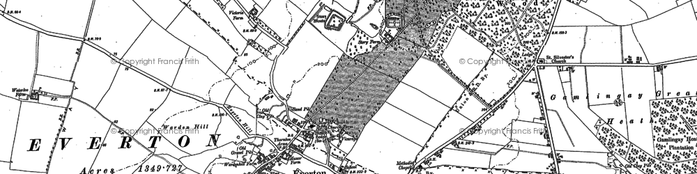 Old map of Deepdale in 1900