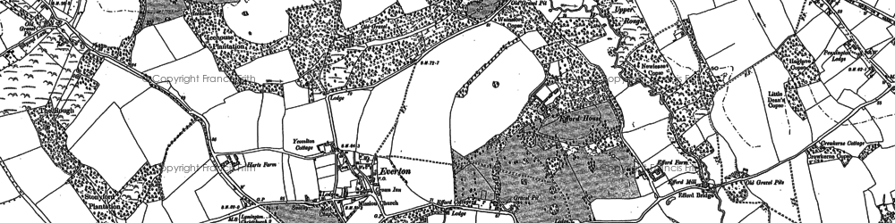 Old map of Everton in 1907