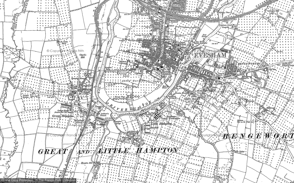 Old Maps Of Evesham Francis Frith - Old os maps