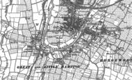 Old Map of Evesham, 1884