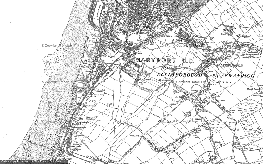 Old Map of Historic Map covering Balnakeil Forge in 1923