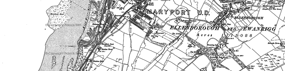 Old map of Balnakeil Forge in 1923
