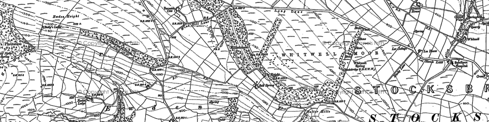 Old map of Wigtwizzle in 1891