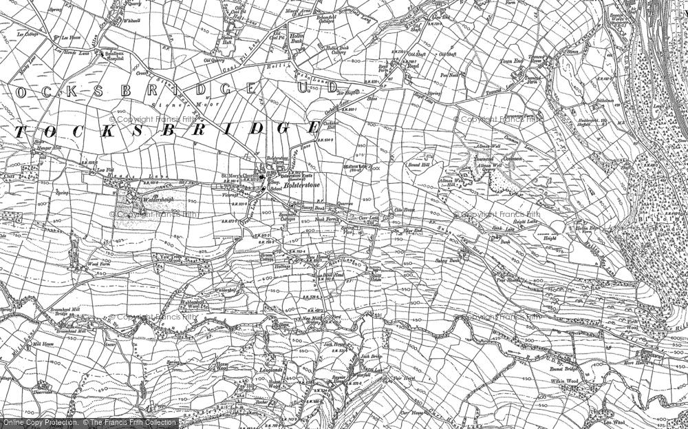 Old Map of Ewden Village, 1891 - 1901 in 1891