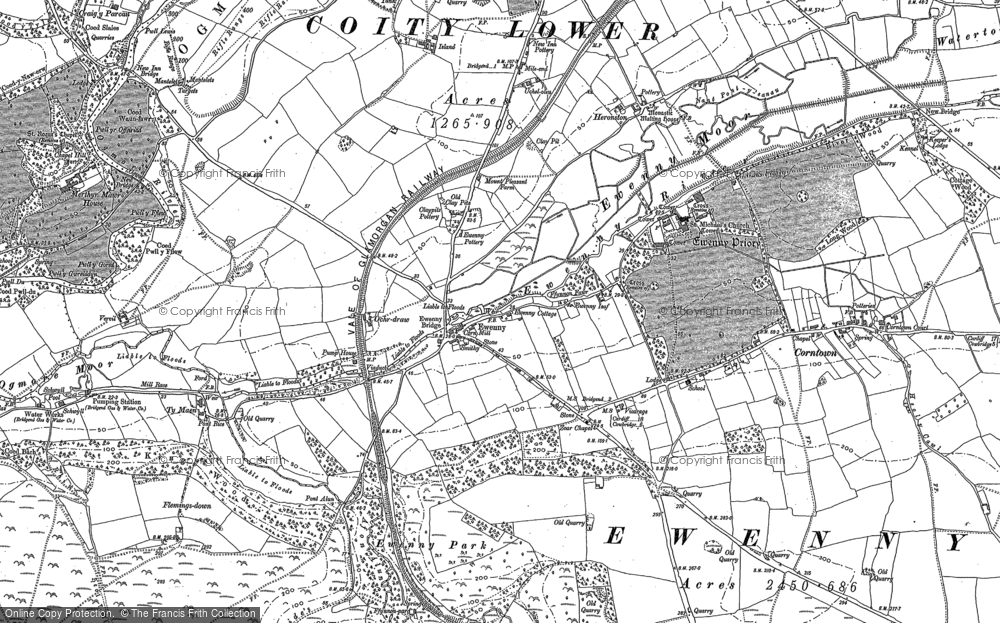 Old Map of Ewenny, 1914 in 1914