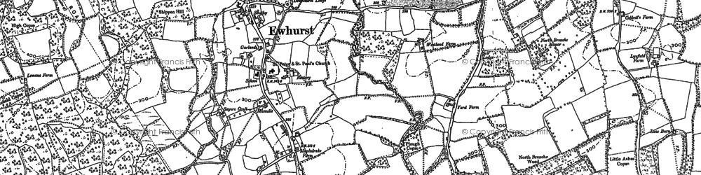 Old map of Ewhurst in 1895