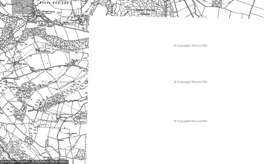 Map of Ewyas Harold, 1886 - 1887