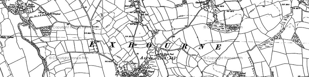 Old map of Woodhall Bridge in 1884
