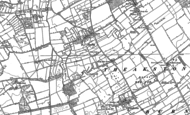Old Map of Exelby, 1891