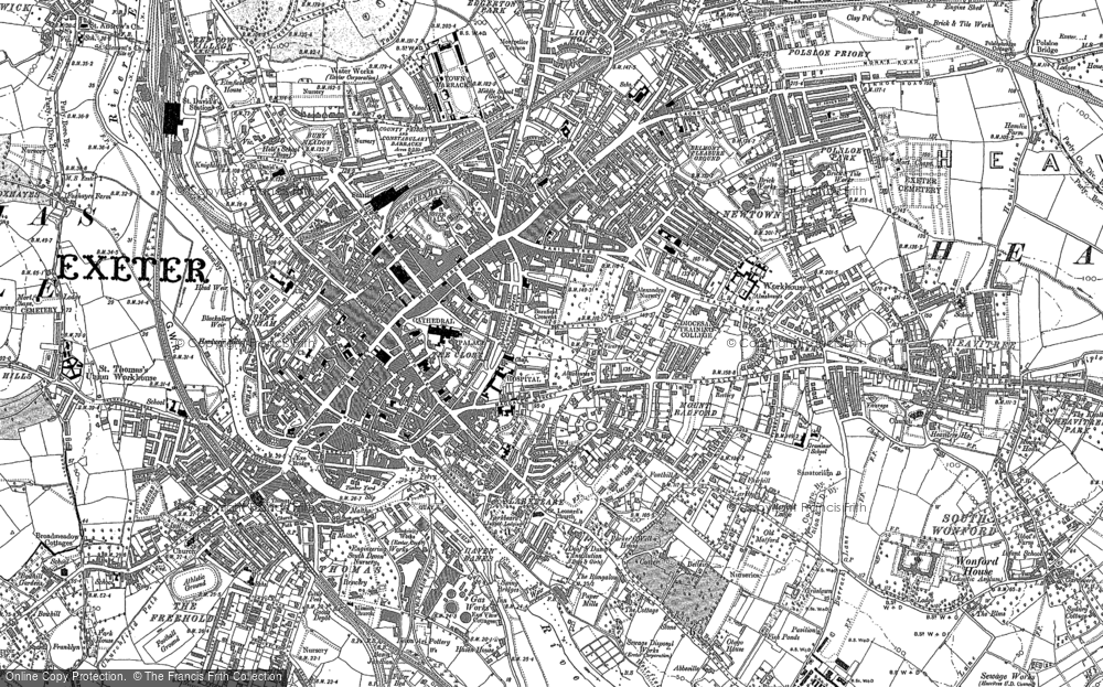 Old Maps of Exeter Francis Frith