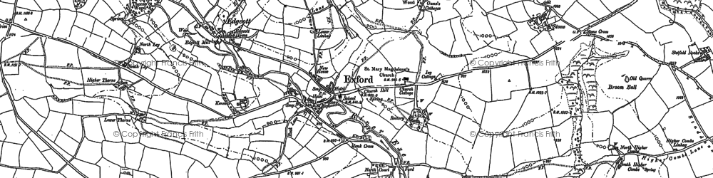 Old map of Ashcombe in 1887