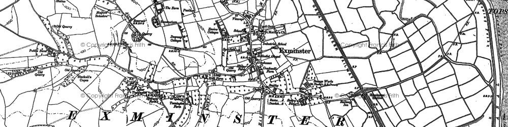 Old map of Exminster in 1888
