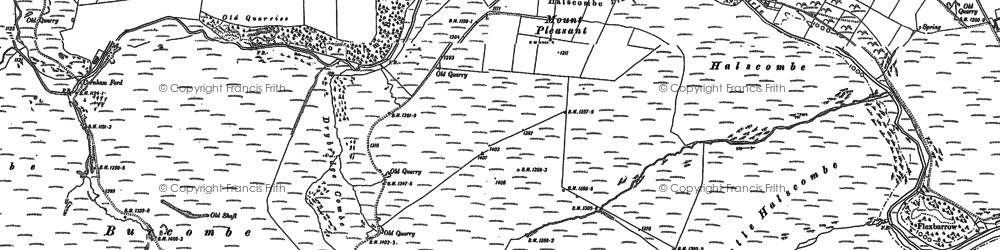 Old map of Acklands in 1887