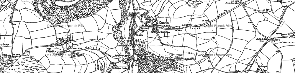 Old map of Widlake in 1902
