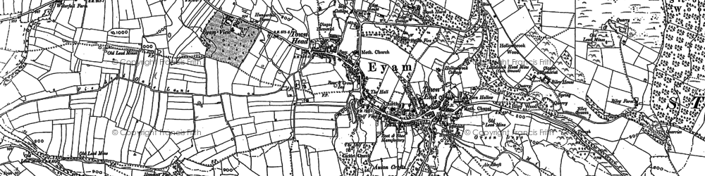 Old map of Eyam in 1879