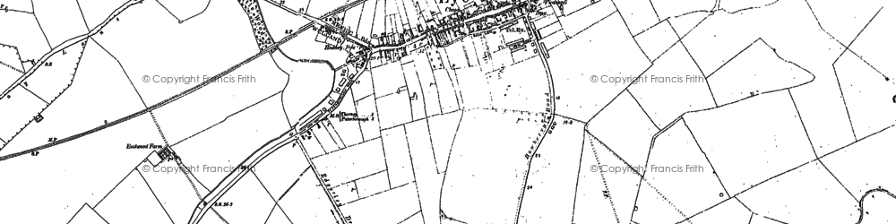 Old map of Eye in 1899