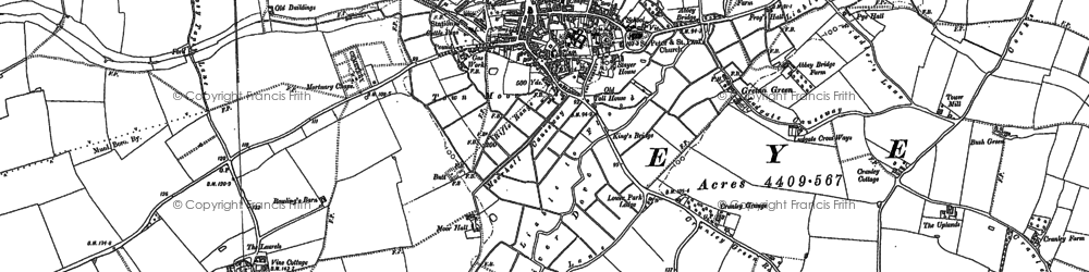Old map of Eye in 1903