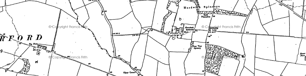 Old map of Wintringham Hall in 1900