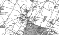 Old Map of Eythorne, 1872 - 1897