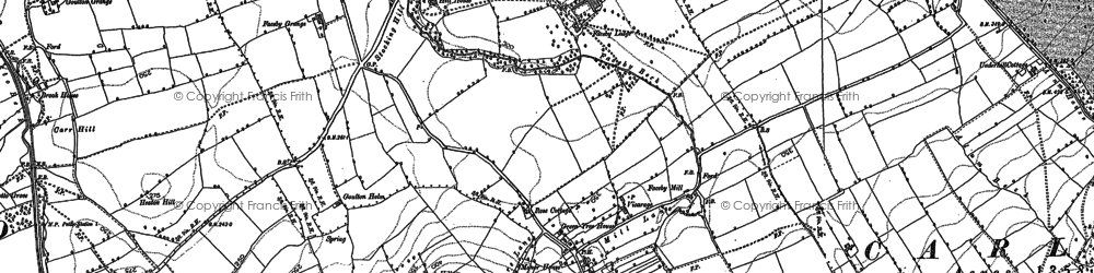 Old map of Whorl Hill in 1890