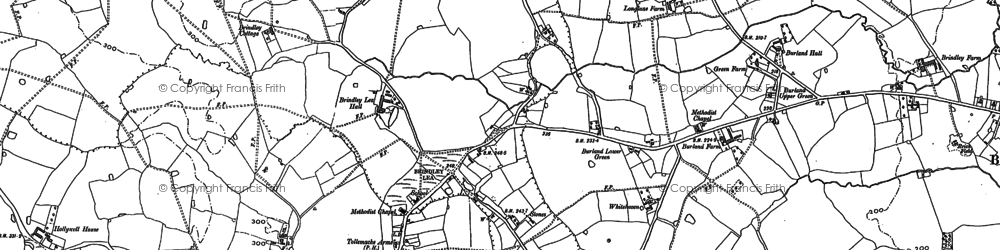 Old map of Baddiley in 1897
